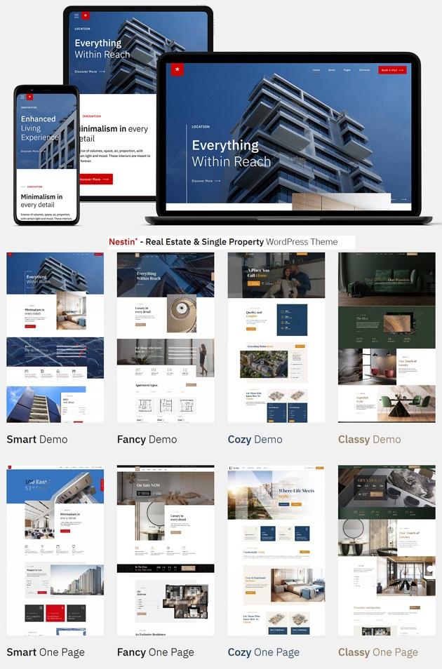 Real Estate & Single Property WordPress Template