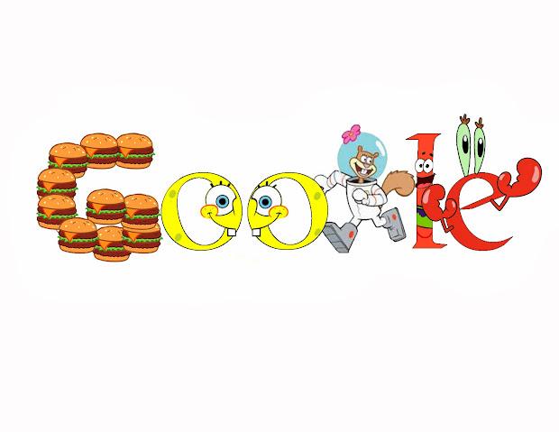 Komal' Design Google Doodle Spongebob