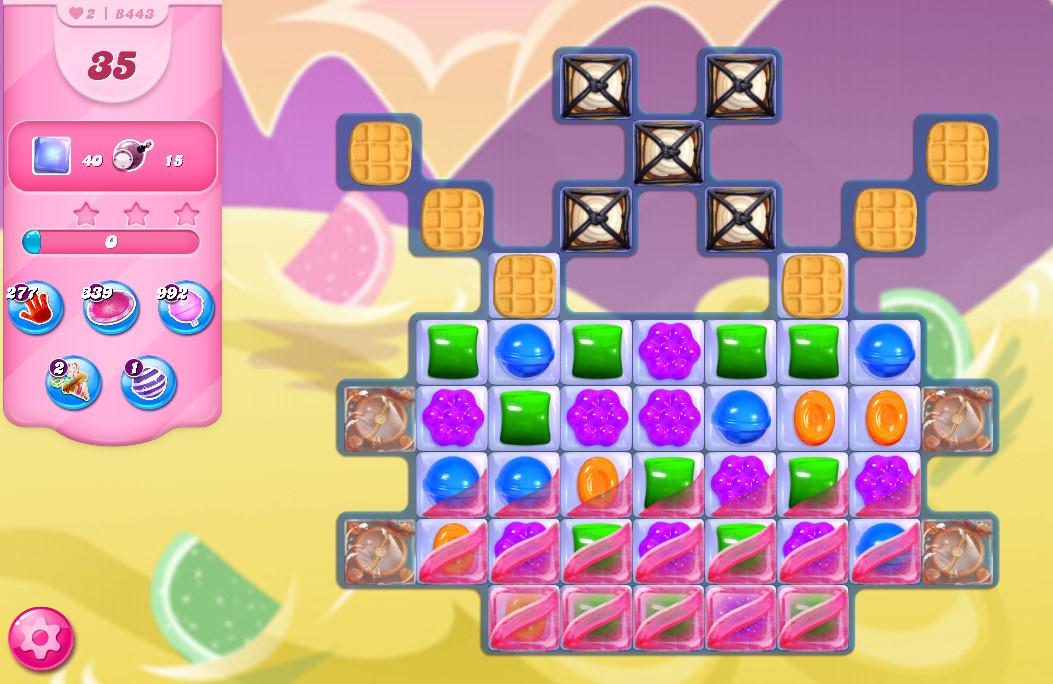 Candy Crush Saga level 8443