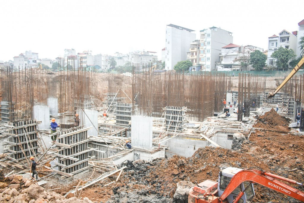 Công trường thi công chung cư The K Park Hà Đông