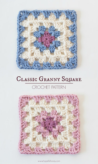 Free Crochet Patterns With Granny Squares : Hopeful Honey Craft, Crochet, Create: Classic Granny ...