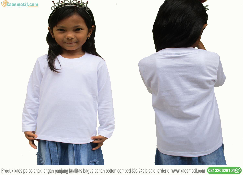 Kaos Polos Putih Lengan Panjang Anak Depan Belakang Jual Kaos Motif Combed Polos 24s 30s Galaxy Strip Hoodie Kurta Sablon Desain Anak Distro