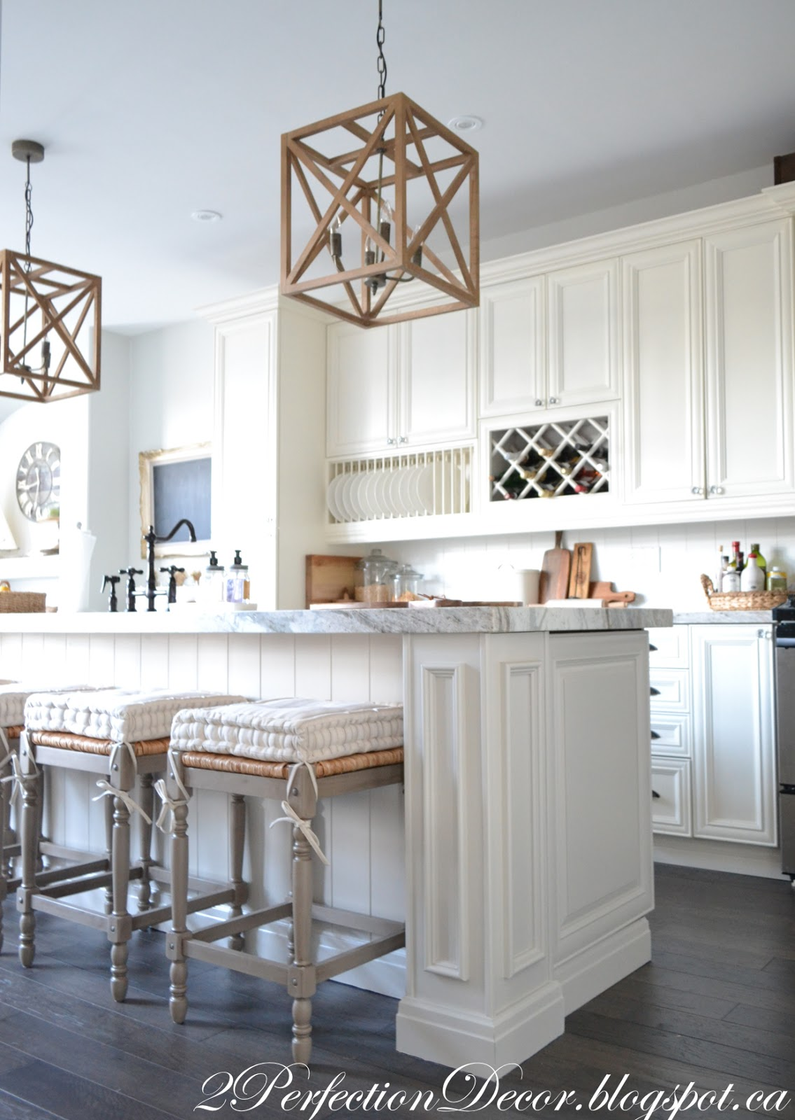 2Perfection Decor: Adding Wood Planks to our Kitchen Island