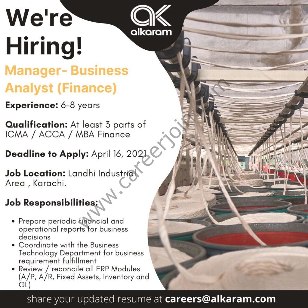 Alkaram Textile Mills Pvt Ltd Jobs in Pakistan 2021 - Apply via careers@alkaram.com - Careers at Alkaram Textile Mills Pvt Ltd