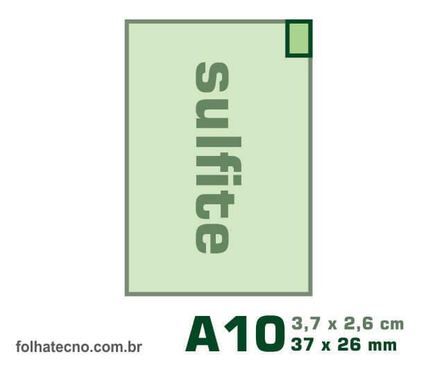 medidas do papel A10