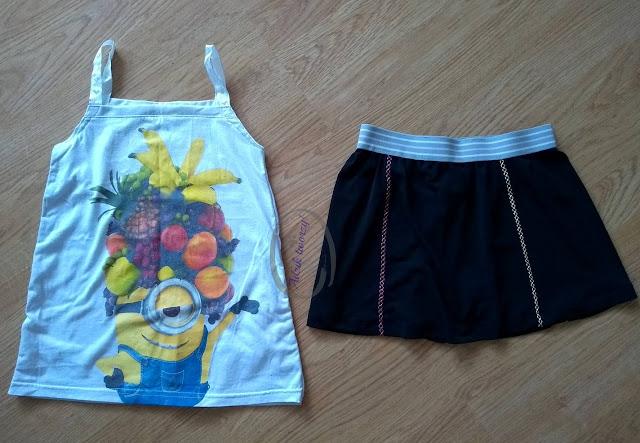 Dziecięce ubranka DIY przeróbka za małych ciuchów - Adzik tworzy