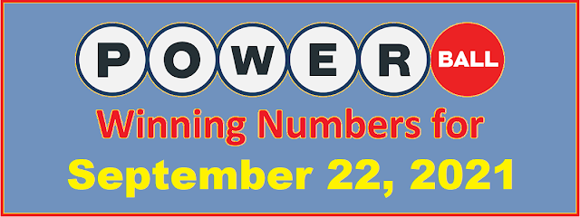 PowerBall Winning Numbers for Wednesday, September 22, 2021