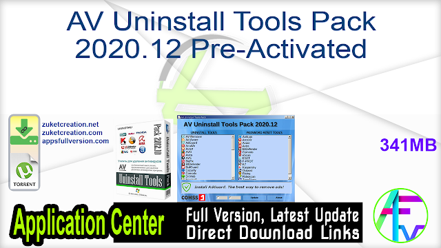 AV Uninstall Tools Pack 2020.12 Pre-Activated