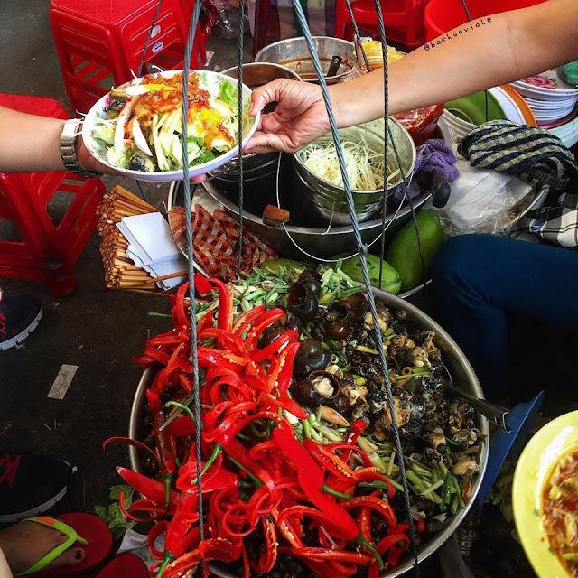 Ốc lẫn xào - Quán cô Hà - Khu ẩm thực chợ Cồn, Đà Nẵng