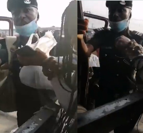 #OccupyLekkiTollgate protest: Police officers attempt to arrest two Nigerian ladies for speaking against the police (Watch Video)_