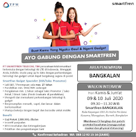 Walk In Interview at PT. Smartfren Telecom Tbk Bangkalan Juli 2020