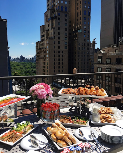 Gossip Girl-worthy brunch in the penthouse suite of the Quin hotel, overlooking Central Park in Manhattan, NYC