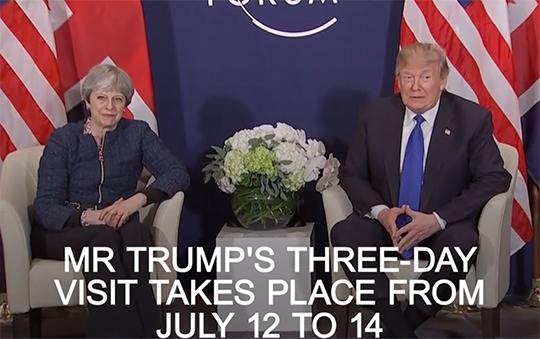 Бен  Фулфорд  9 июля 2018 года - Произойдут ли аресты в августе,  объявление об 11-м сентября в сентябре и юбилей в октябре? Trump_visit_uk