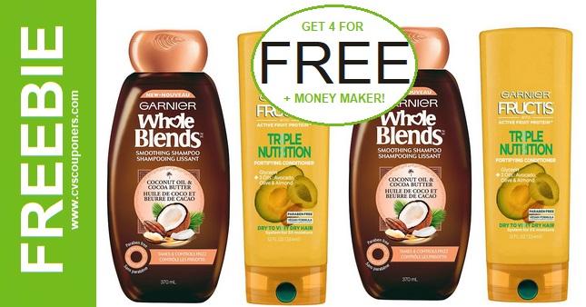FREE Garnier Fructis & Whole Blends at CVS