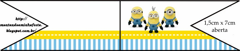 Free Despicable Me Party Food Flags.