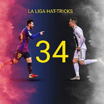 #Lionel #Messi equals #Cristiano #Ronaldo for most #hat-#tricks in #La #Liga #history 🤝
