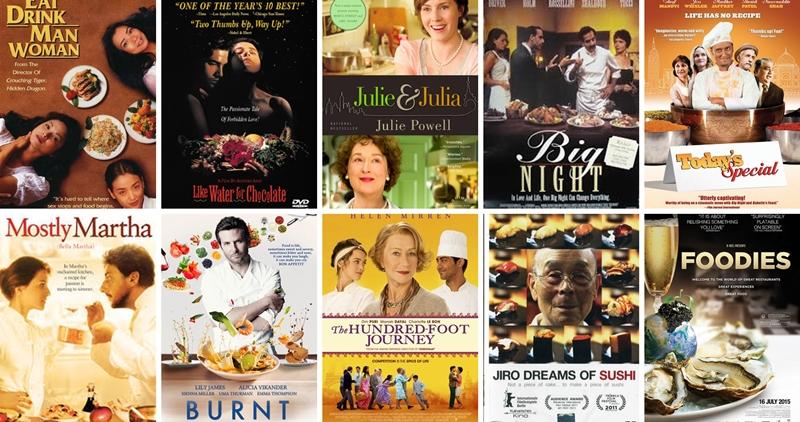 top 10 foodie elokuvat