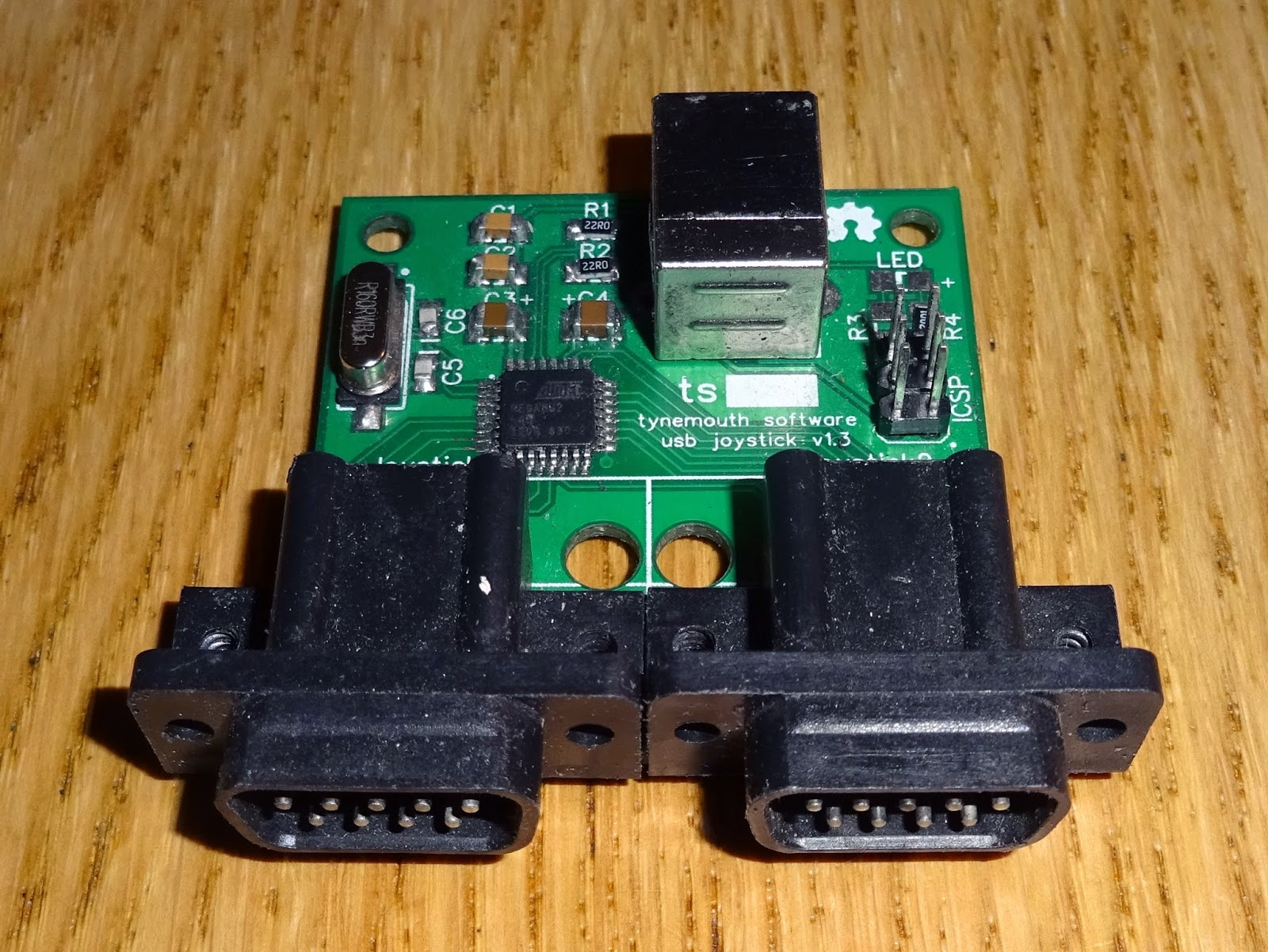 Tynemouth Software Atari Commodore 9 Way D Usb Joystick Adapter Circuit Board Connector A While Ago I Designed Which Allows You To Plug In One Or Two Style Joysticks And Use Them On Pc Pi With Modern Games