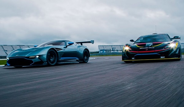 McLaren P1 GTR vs Aston Martin Vulcan (video)