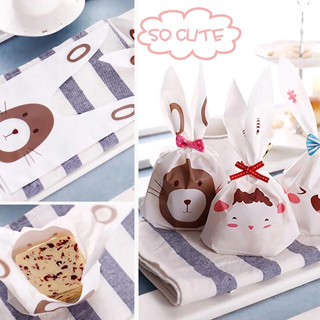 Сладък заек опаковки- 20 бр - може да се използва като торби за бисквити , торба за подаръци
