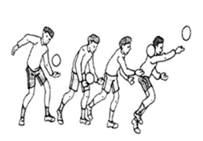 Permainan bola voli merupakan permainan bola besar pada mata pelajaran pendidikan jasmani olahraga dan kesehatan (PJOK) di sekolah