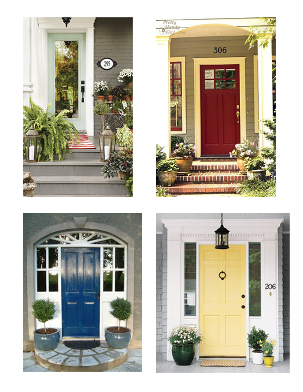 Full Plate Living: Pop 'o Color - Front Door Inspiration