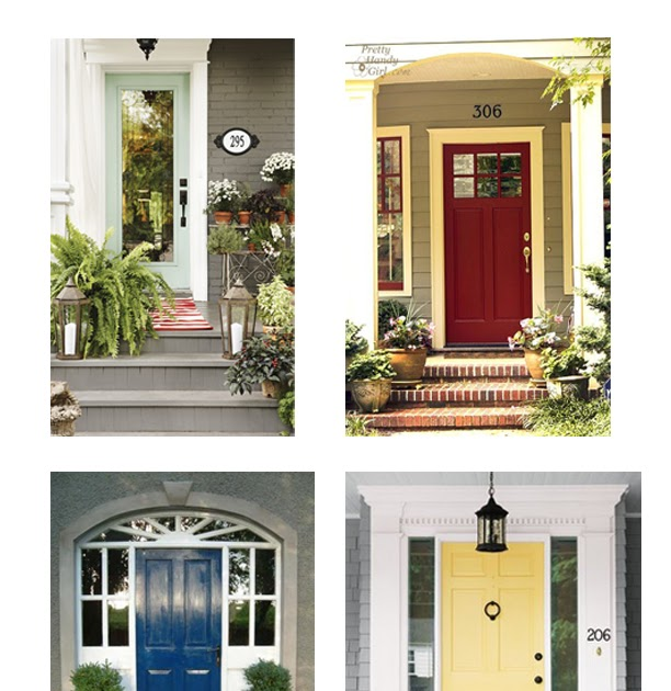 Front Door Inspiration: Full Plate Living: Pop 'o Color