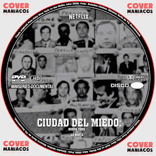 CIUDAD DEL MIEDO: NUEVA YORK CONTRA LA MAFIA - FEAR CITY: NEW YORK VS THE MAFIA MINISERIES-DOCUMENTAL 2020 [COVER - SERIES - DVD]