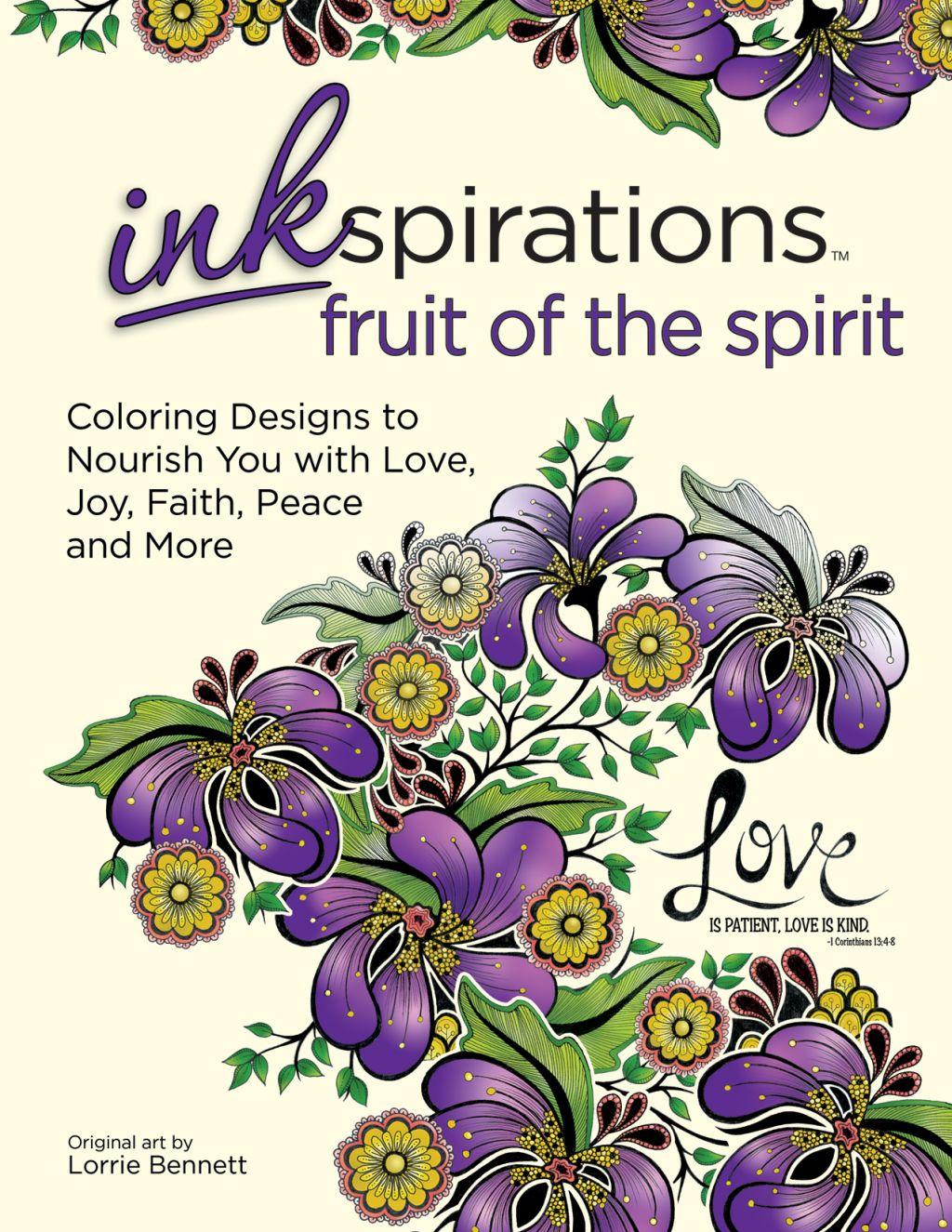Inkspirations: Fruit of the Spirit coloring book with original art ...