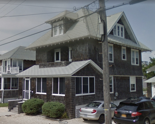 color photo from Google maps streetview of 119 Belvoir Avenue, Beach Haven, New Jersey Sears No 163