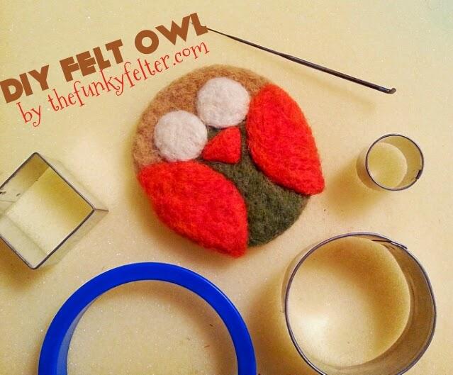 diy needle felt owl materials list