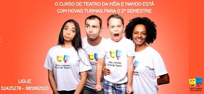 Cultura:  Curso de Teatro Néia e Nando abre matrículas para o segundo semestre de 2019