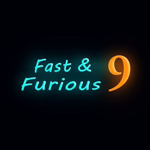 Fast And Furious 9 Text PNG Free Stock For Editing [ Download ]