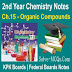 Organic Compounds 2nd Year Chemsitry Notes