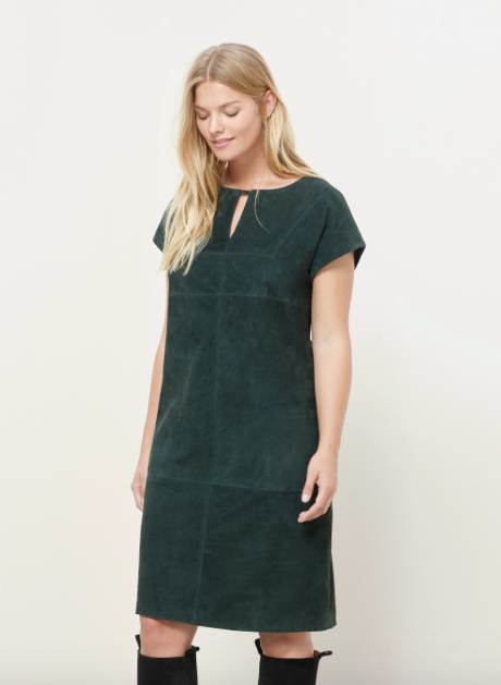 43283db7f99 It s certainly a trend piece. But it s suede and suede does it s own thing.  There s absolutely no give in this fabric. There s no waist definition  either ...