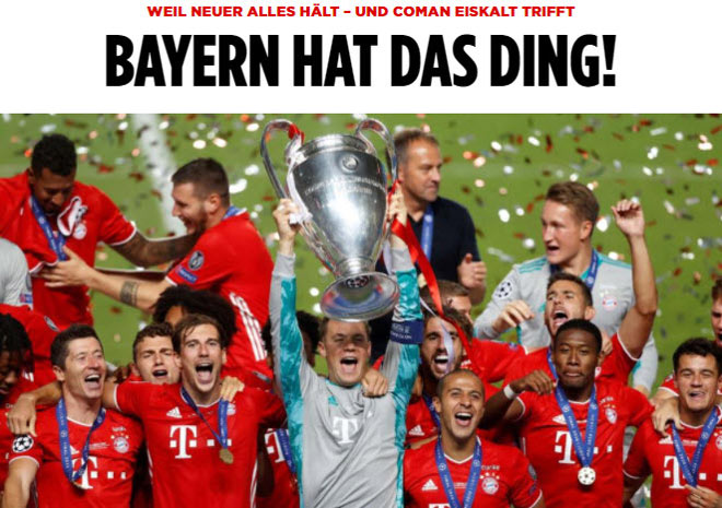Bayern Munich vô địch Cúp C1: Báo chí ngợi ca người hùng bất ngờ hạ PSG 4