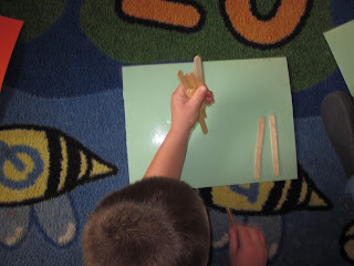 Kids building tally marks