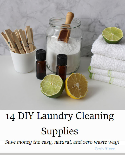14 easy DIY zero waste laundry cleaning supply recipes