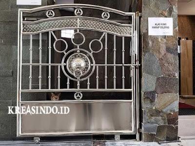 Model Berbagai Macam Pintu Masjid Stainless Steel dan Besi