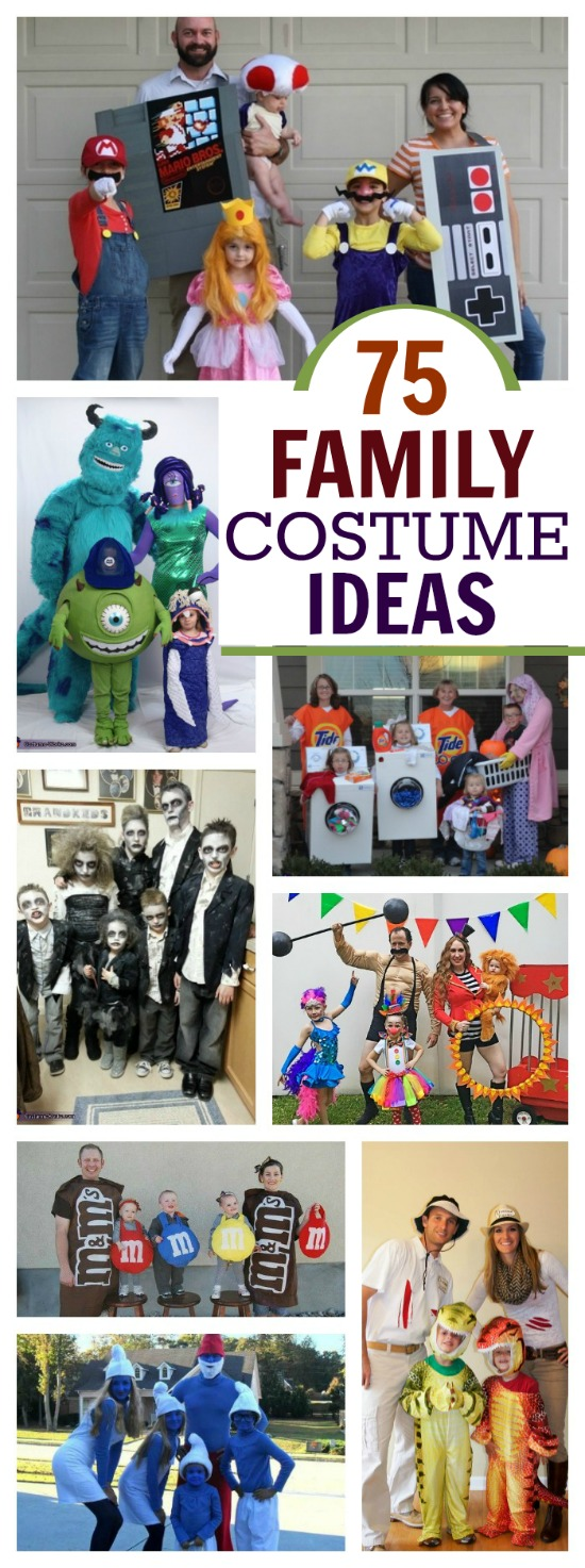 76 FAMILY COSTUME IDEAS FOR HALLOWEEN.  People are so creative!  I love these!