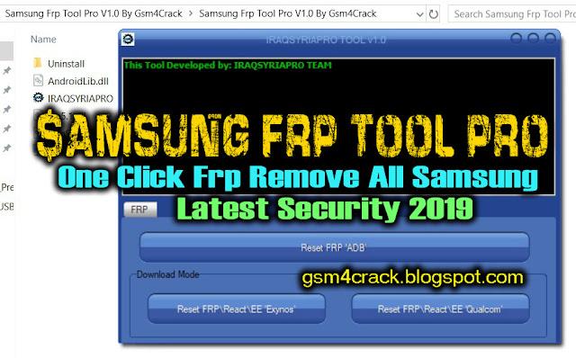 Samsung Frp Tool Pro V1.0 Latest 2019