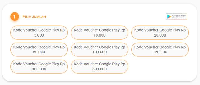 Cara Beli Voucher Google Play