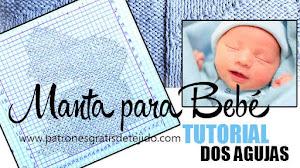 Manta para bebé reversible en dos agujas / Tutorial