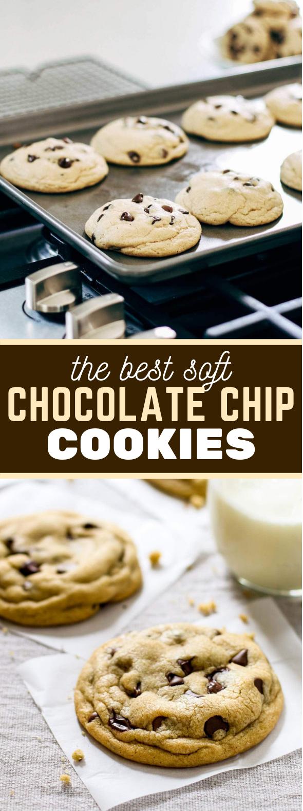 The Best Soft Chocolate Chip Cookies #desserts #milk
