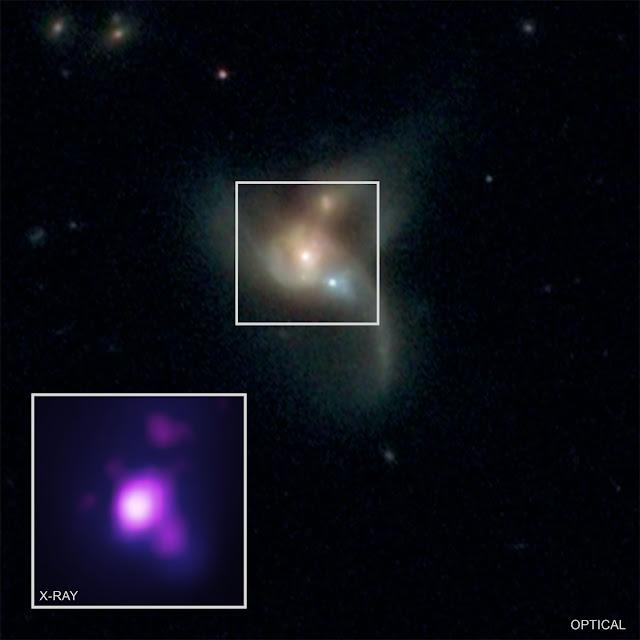3 buracos negros supermassivos na galáxia SDSS J084905.51 + 111447.2