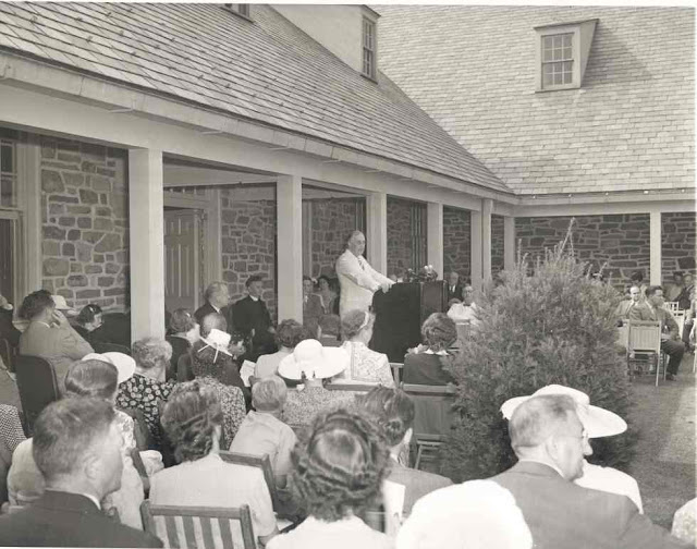 President Franklin D. Roosevelt at the opening of the Roosevelt Library in Hyde Park, 30 June 1941 worldwartwo.filminspector.com