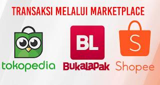 Transaksi melalui marketplace