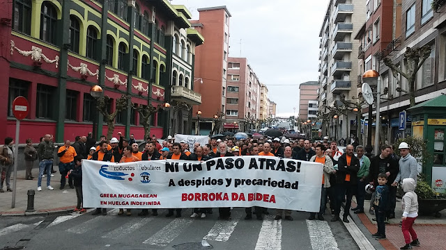 protesta de trabajadores de Productos Tubulares