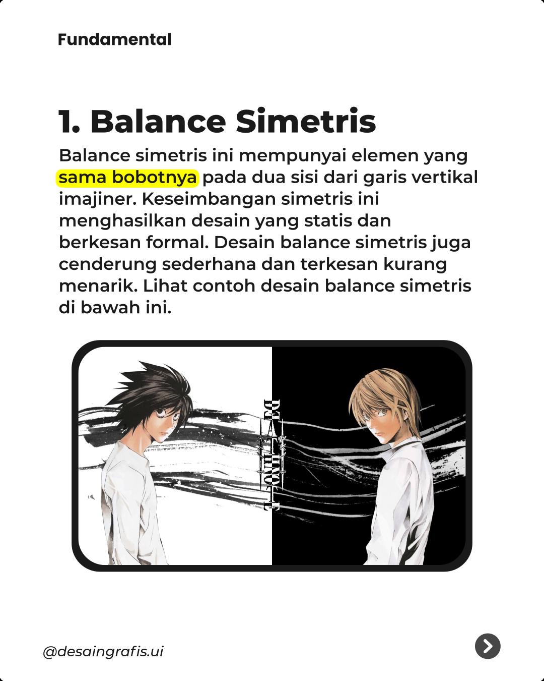 contoh prinsip keseimbangan dalam desain grafis