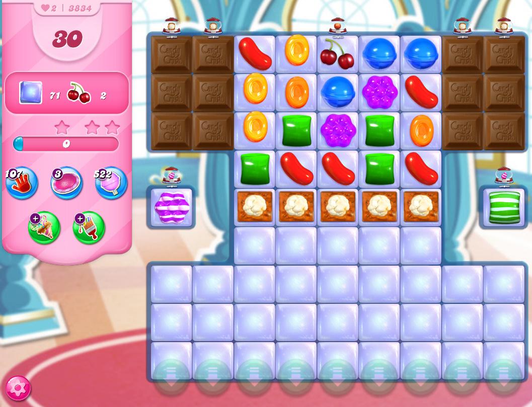 Candy Crush Saga level 3834